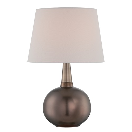 Lite Source Lighting Lite Source Geordi Copper Bronze Table Lamp with Empire Shade LS-22746