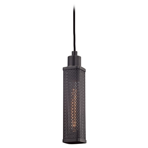 Hudson Valley Lighting Hudson Valley Lighting Gibbs Old Bronze Mini-Pendant Light with Rectangle Shade 7033-OB