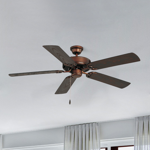 Maxim Lighting Maxim Lighting Basic-Max Oil Rubbed Bronze Ceiling Fan Without Light 89915OI
