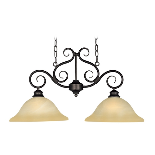 Maxim Lighting Maxim Lighting Pacific Kentucky Bronze Island Light with Bell Shade 2651WSKB