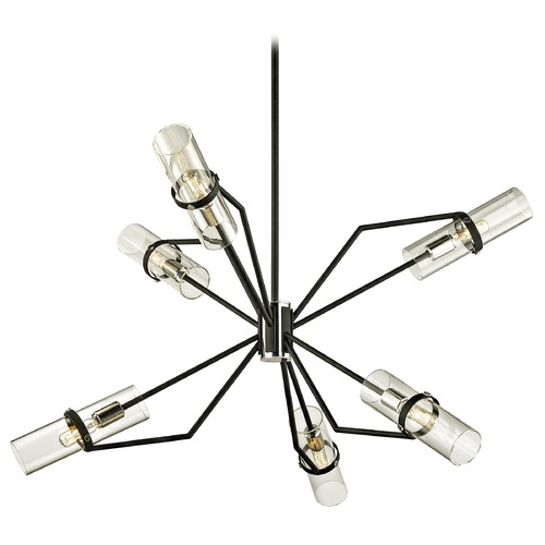 Troy Lighting Troy Lighting Raef Textured Black & Polish Nickel Chandelier F6326
