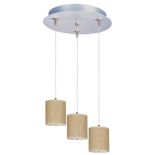 ET2 Lighting Modern Low Voltage Multi-Light Pendant Light with Brown Tones Shades and 3-Lights E95493-101SN