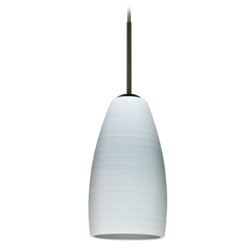 Besa Lighting Besa Lighting Chrissy Bronze Mini-Pendant Light with Conical Shade 1BT-1509KR-BR