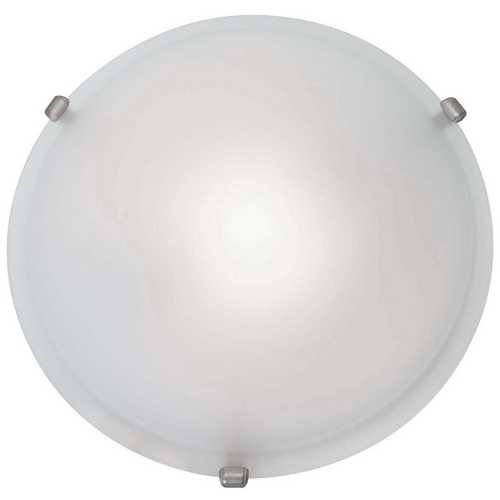 Access Lighting Modern Flushmount Light with White Glass in Satin Nickel Finish 50049-SAT/FST