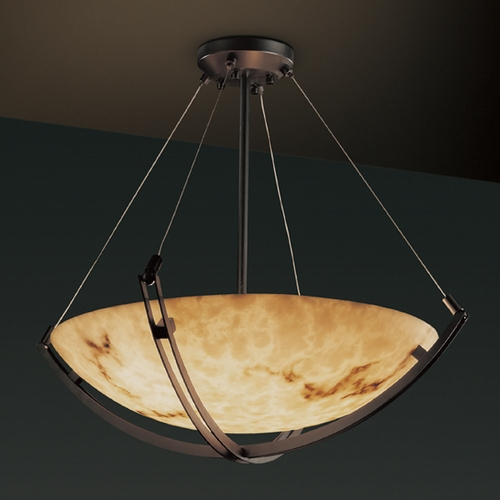 Justice Design Group Justice Design Group Lumenaria Collection Pendant Light FAL-9724-35-DBRZ