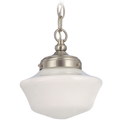 Design Classics Lighting 8-Inch Schoolhouse Mini-Pendant Light with Chain FA4-09 / GA8 / A-09