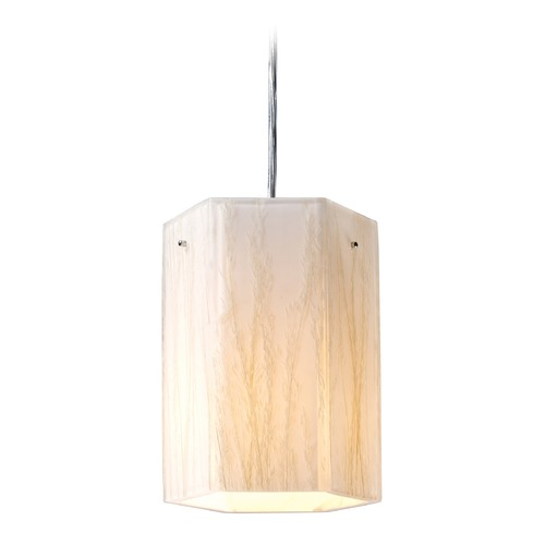 Elk Lighting Elk Lighting Modern Organics Polished Chrome Mini-Pendant Light with Hexagon Shade 19031/1-LA