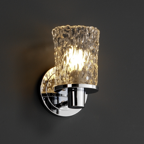 Justice Design Group Justice Design Group Veneto Luce Collection Sconce GLA-8511-16-CLRT-CROM