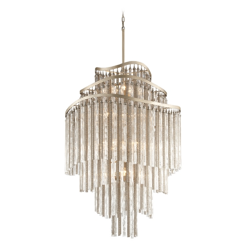 Corbett Lighting Corbett Lighting Chimera Tranquility Silver Leaf Pendant Light 176-718