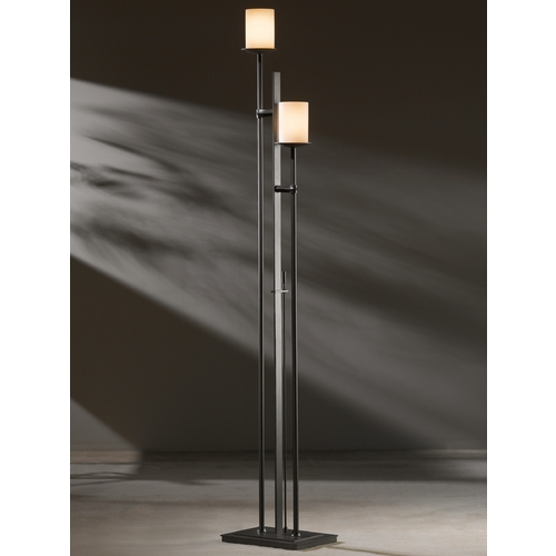 Hubbardton Forge Lighting Hubbardton Forge Lighting Rook Dark Smoke Torchiere Lamp with Cylindrical Shade 234903-07-H188