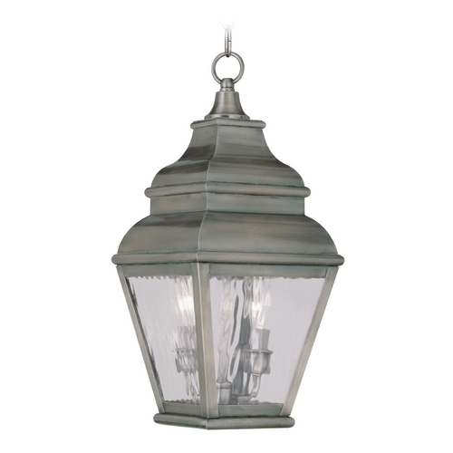 Livex Lighting Livex Lighting Exeter Vintage Pewter Outdoor Hanging Light 2604-29