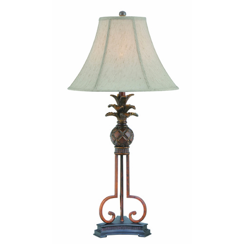 Lite Source Lighting Lite Source Aloha Aged Bronze Table Lamp with Bell Shade LS-22407
