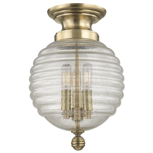 Hudson Valley Lighting Coolidge 3 Light Flushmount Light - Aged Brass 3200-AGB