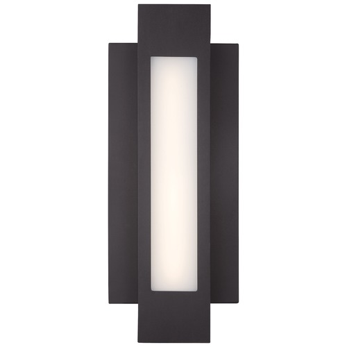 George Kovacs Lighting George Kovacs Insert Pebble Bronze LED Outdoor Wall Light P1231-286-L