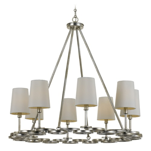 Crystorama Lighting Crystorama Lighting Graham Antique Silver Chandelier 288-SA