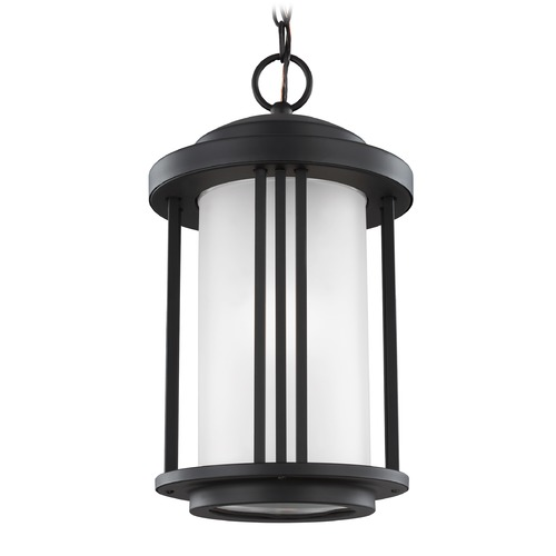 Sea Gull Lighting Sea Gull Crowell Black Outdoor Hanging Light 6247901-12