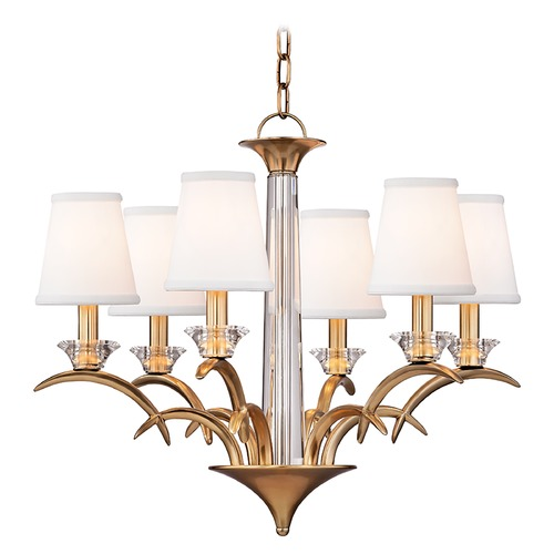 Hudson Valley Lighting Hudson Valley Lighting Marcellus Aged Brass Chandelier 3196-AGB