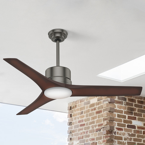 Casablanca Fan Co Casablanca Fan Co Piston Brushed Slate LED Ceiling Fan with Light 59195