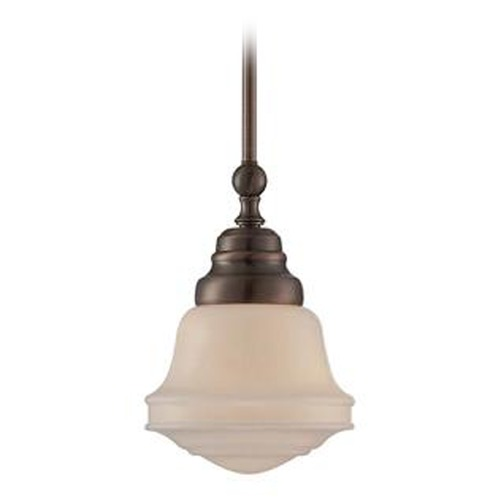 Lite Source Lighting Lite Source Towne Antique Copper Mini-Pendant Light with Bowl / Dome Shade LS-18741