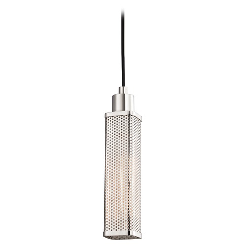 Hudson Valley Lighting Hudson Valley Lighting Gibbs Polished Nickel Mini-Pendant Light with Rectangle Shade 7033-PN