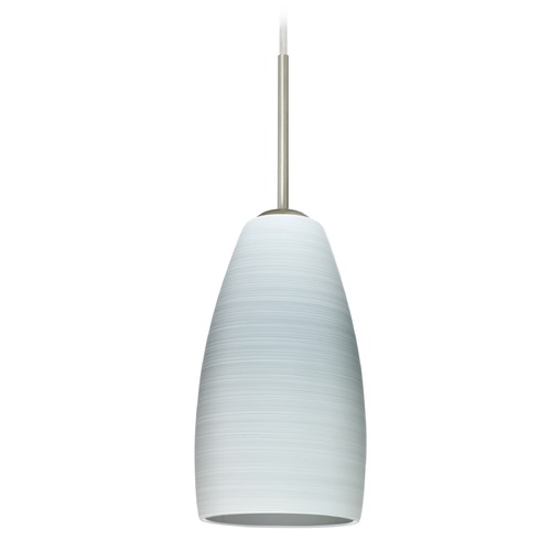 Besa Lighting Besa Lighting Chrissy Satin Nickel Mini-Pendant Light with Conical Shade 1BT-1509KR-SN