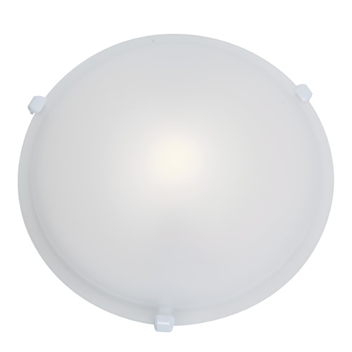Access Lighting Modern Flushmount Light with White Glass in White Finish 50049-WH/FST