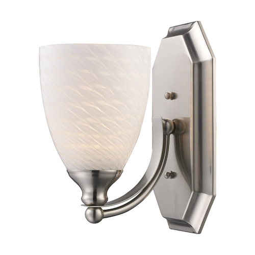 Elk Lighting Sconce with Art Glass in Satin Nickel Finish 570-1N-WS