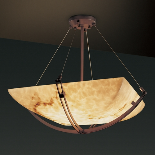 Justice Design Group Justice Design Group Lumenaria Collection Pendant Light FAL-9727-25-DBRZ