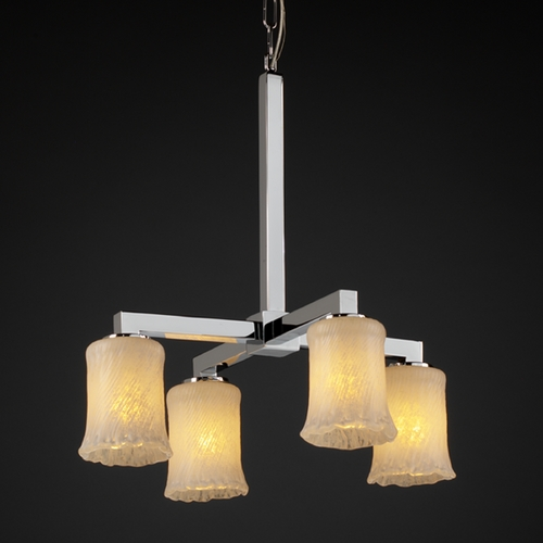 Justice Design Group Justice Design Group Veneto Luce Collection Chandelier GLA-8920-16-WHTW-CROM