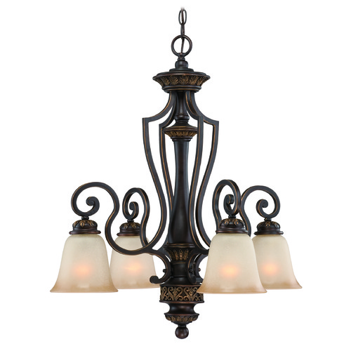 Jeremiah Lighting Jeremiah Josephine Antique Bronze, Gold Accents Chandelier 28224-ABZG