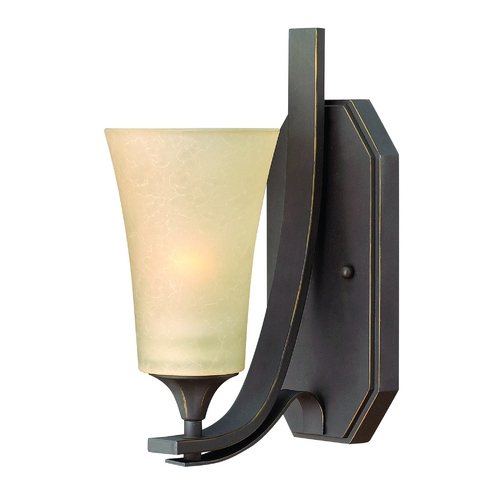 Hinkley Lighting Sconce Wall Light with Amber Glass in Oil Rubbed Bronze Finish 4630OZ