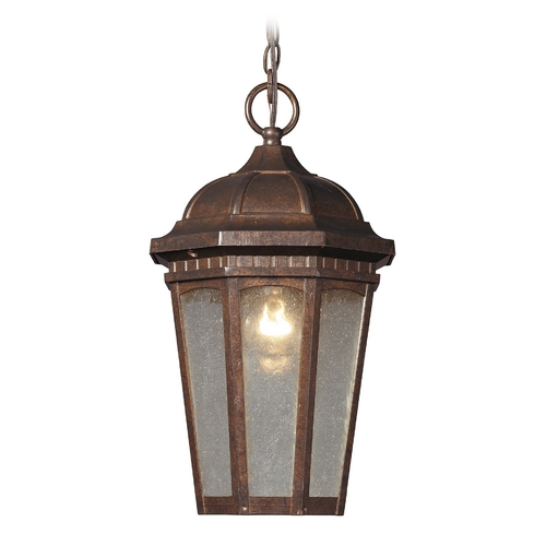 Elk Lighting Outdoor Hanging Light with Clear Glass in Hazelnut Bronze Finish 47032/1