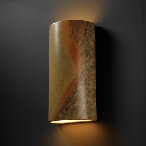 Justice Design Group Outdoor Wall Light in Harvest Yellow Slate Finish CER-1165W-SLHY