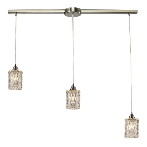 Elk Lighting Crystal Multi-Light Pendant Light with Clear Glass and 3-Lights 10343/3L