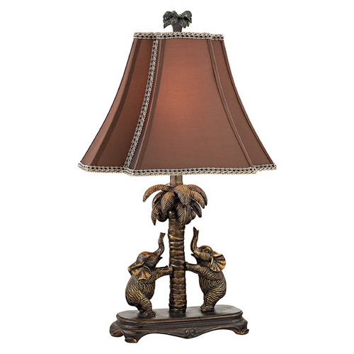 Dimond Lighting Accent Lamp with Brown Shades in Bridgetown Bronze Finish D2475