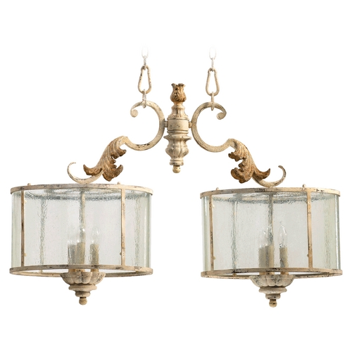 Quorum Lighting Quorum Lighting Florence Persian White Island Light with Drum Shade 6537-6-70