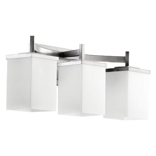 Delta Bathroom Vanity Lights : Quorum Lighting Delta Satin Nickel Bathroom Light 5084-3-65 Destination Lighting