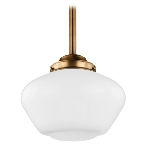 Feiss Lighting Feiss Alcott Aged Brass LED Pendant Light P1387AGB-LED