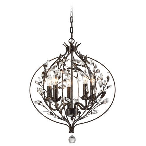 Elk Lighting Elk Lighting Circeo Deep Rust Mini-Chandelier 18136/5
