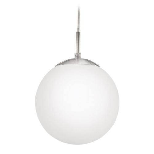 Eglo Lighting Eglo Rondo Matte Nickel Mini-Pendant Light with Globe Shade 85261A