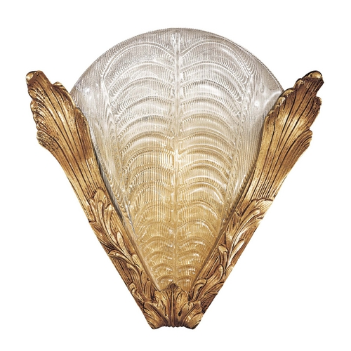 Metropolitan Lighting Sconce Wall Light with Gold Glass in French Gold Finish N950496