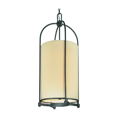 Troy Lighting Pendant Light with Beige / Cream Shades in Federal Bronze Finish F1808FBZ