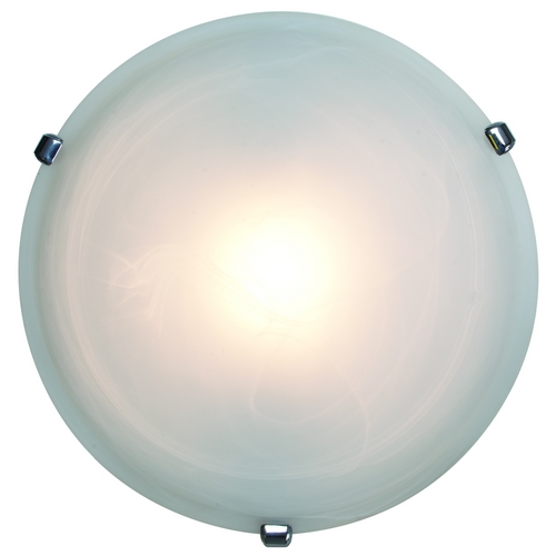 Access Lighting Modern Flushmount Light with Alabaster Glass in Chrome Finish 50050-CH/ALB