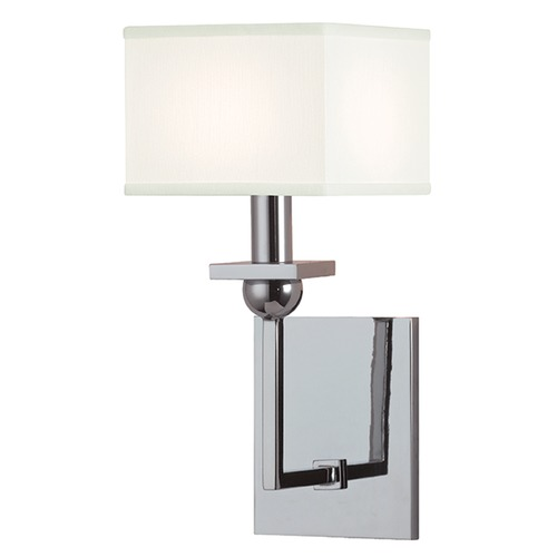 Hudson Valley Lighting Morris 1 Light Sconce Square Shade - Polished Chrome 5211-PC-WS