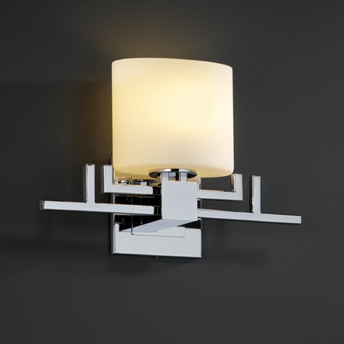 Justice Design Group Justice Design Group Fusion Collection Sconce FSN-8711-30-OPAL-CROM