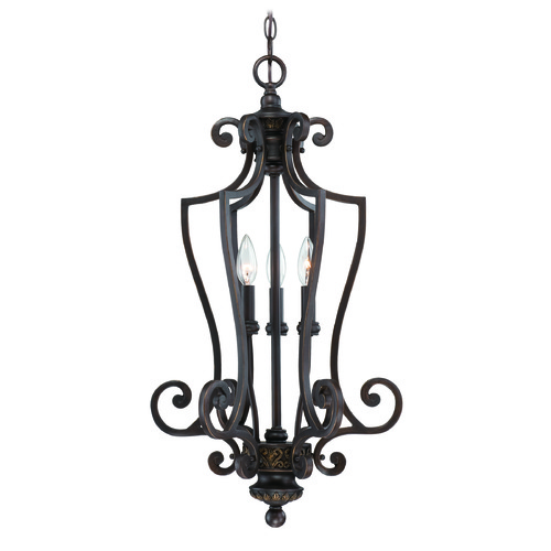 Craftmade Lighting Craftmade Josephine Antique Bronze, Gold Accents Pendant Light 28233-ABZG
