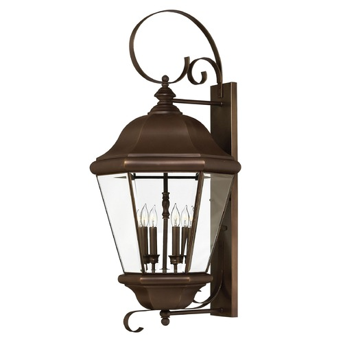 Hinkley Outdoor Wall Light with Clear Glass in Copper Bronze Finish 2406CB