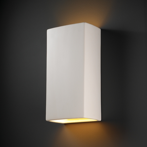 Justice Design Group Outdoor Wall Light in Bisque Finish CER-1175W-BIS