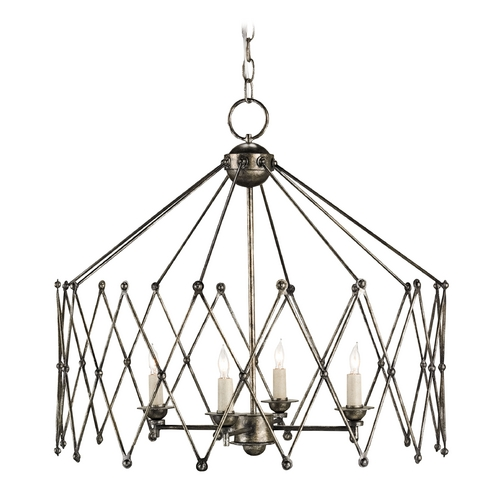 Currey and Company Lighting Currey and Company Lighting Dirty Silver Pendant Light 9998