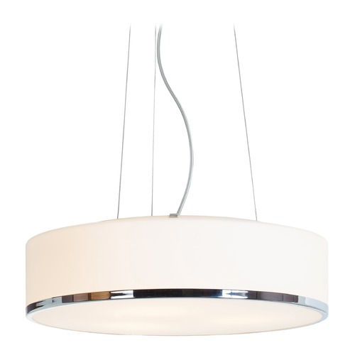 Access Lighting Access Lighting Aero Chrome LED Pendant Light with Drum Shade 20673LEDD-CH/OPL